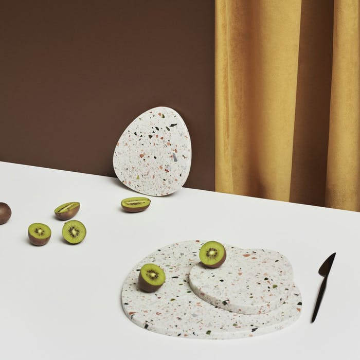 """Terrazzo tray by Bolia.<span class=""""sr-only""""> (opened in a new window/tab)</span>"""