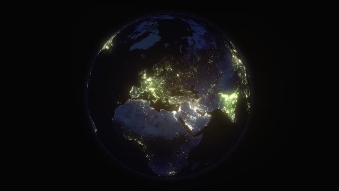 "A satellite photo of planet Earth depicting the electricity inequality we experience these days.<span class=""sr-only""> (opened in a new window/tab)</span>"