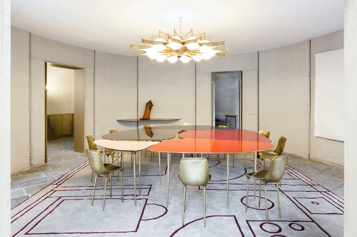 """The interior of 3D Housing 05, an example of sustainable living and energy efficiency. View of the dining room.<span class=""""sr-only""""> (opened in a new window/tab)</span>"""