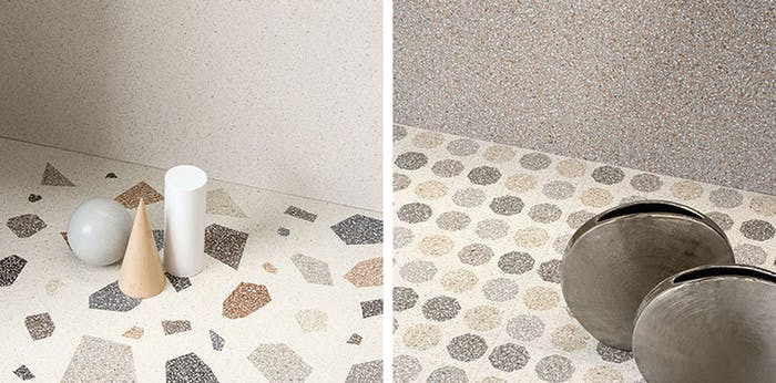 """Example of terrazzo at Cersaie 2018.<span class=""""sr-only""""> (opened in a new window/tab)</span>"""
