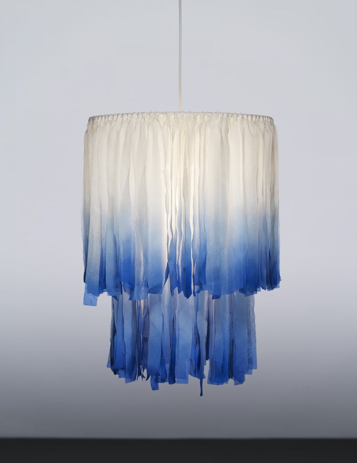 "A sustainable chandelier from TÄNKVÄRD collection, made of sustainable textile pieces.<span class=""sr-only""> (opened in a new window/tab)</span>"