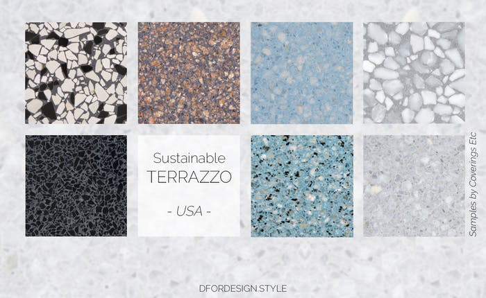 """Recycled stone and cement terrazzo samples.<span class=""""sr-only""""> (opened in a new window/tab)</span>"""