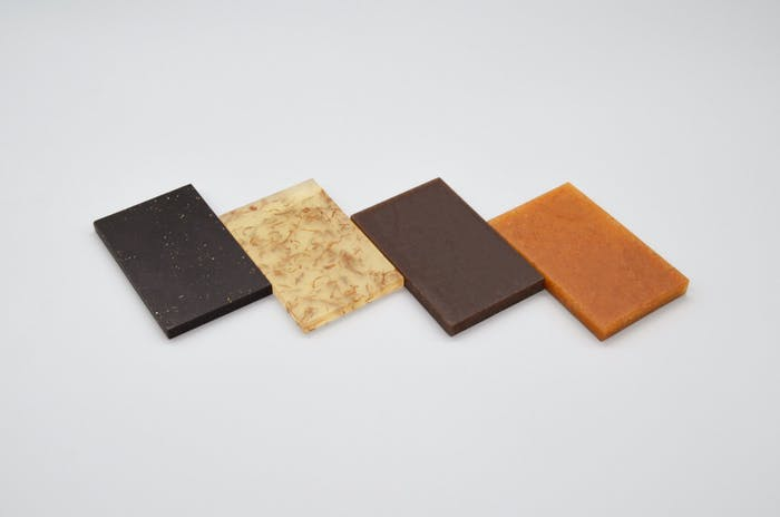 """Samples of Chips Board potato-waste biomaterial.<span class=""""sr-only""""> (opened in a new window/tab)</span>"""