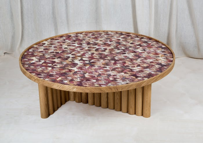 """Coffee table with Totomoxtle top.<span class=""""sr-only""""> (opened in a new window/tab)</span>"""