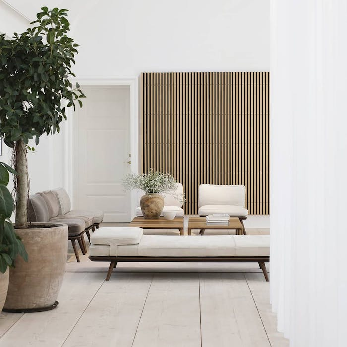 """Biophilic white outdoor space with Brave Ground accents.<span class=""""sr-only""""> (opened in a new window/tab)</span>"""