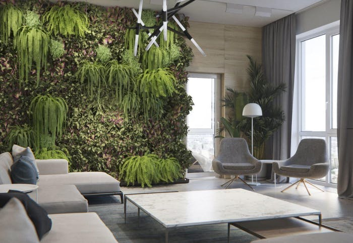 "Big vertical garden on a contemporary living room.<span class=""sr-only""> (opened in a new window/tab)</span>"
