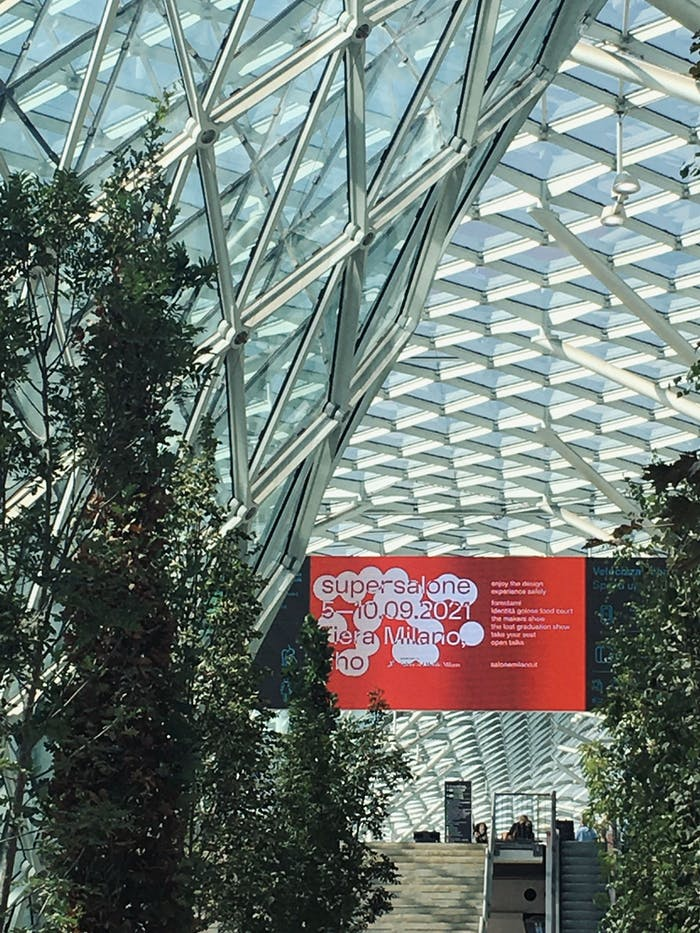 """Entrance of Supersalone with trees.<span class=""""sr-only""""> (opened in a new window/tab)</span>"""
