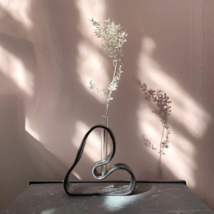 """Stem vase with a single flowered branch.<span class=""""sr-only""""> (opened in a new window/tab)</span>"""