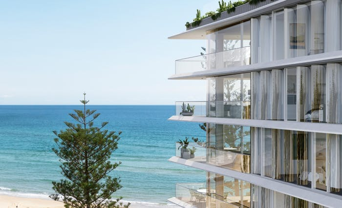 """Biophilic block of flats overlooking the ocean.<span class=""""sr-only""""> (opened in a new window/tab)</span>"""