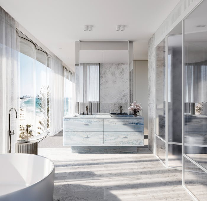"""Ensuite with free-standing tub.<span class=""""sr-only""""> (opened in a new window/tab)</span>"""