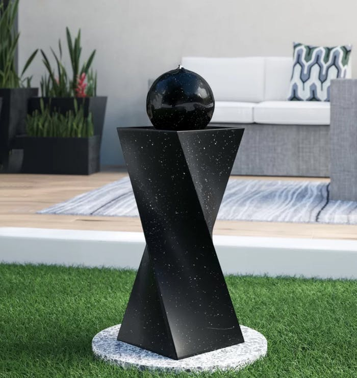"Small water fountain, perfect addition to a small space to create a biophilic design.<span class=""sr-only""> (opened in a new window/tab)</span>"