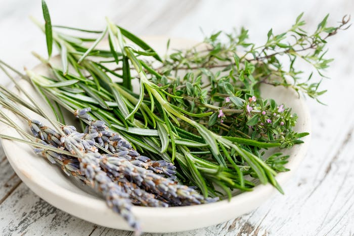 """A bowl filled with herbs for a natural scent.<span class=""""sr-only""""> (opened in a new window/tab)</span>"""