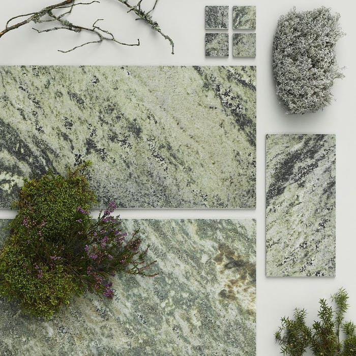 "Biophilic tiles recalling the texture of moss.<span class=""sr-only""> (opened in a new window/tab)</span>"
