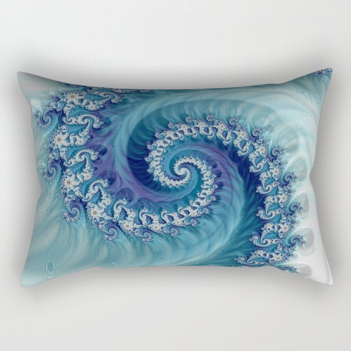 "Cushion cover printed with a fractal pattern.<span class=""sr-only""> (opened in a new window/tab)</span>"