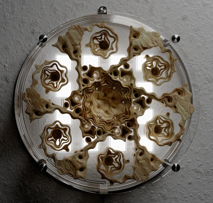"Wall lamp reproducing natural fractals.<span class=""sr-only""> (opened in a new window/tab)</span>"