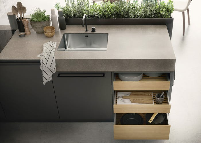 "A kitchen with integrated planters for herbs.<span class=""sr-only""> (opened in a new window/tab)</span>"