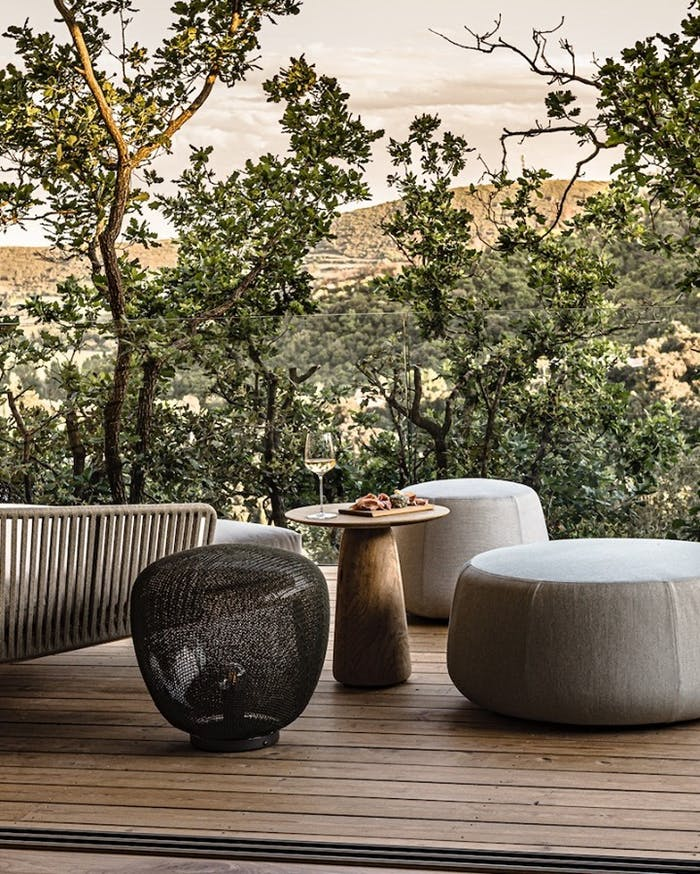 """Biophilic outdoor space overlooking a wide natural scenery.<span class=""""sr-only""""> (opened in a new window/tab)</span>"""
