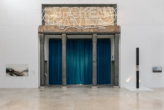 """Entrance of the Broken Nature exhibition.<span class=""""sr-only""""> (opened in a new window/tab)</span>"""