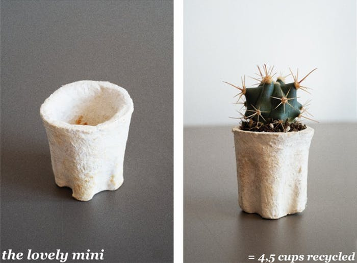"The Lovely mini vase, made upcycling 4.5 coffee cups.<span class=""sr-only""> (opened in a new window/tab)</span>"