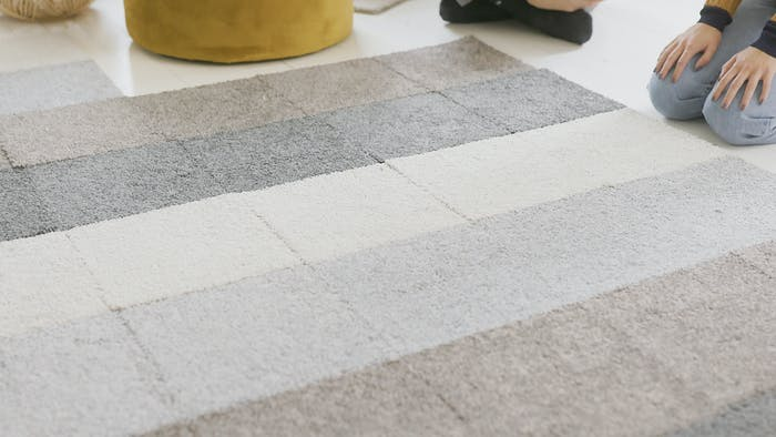 "Close up view of the modular rug tiles.<span class=""sr-only""> (opened in a new window/tab)</span>"
