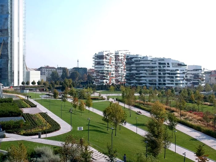 "Biophilic park in CityLife.<span class=""sr-only""> (opened in a new window/tab)</span>"