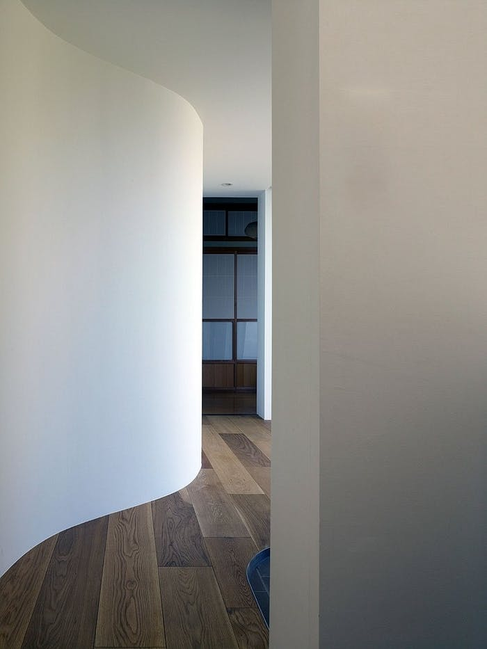 """Curved shape corridor, great option to create a mysterious path in a biophilic design.<span class=""""sr-only""""> (opened in a new window/tab)</span>"""