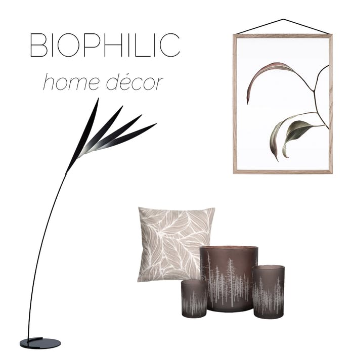 """Selection of home accessories recalling natural shapes and patterns, ideal to create a biophilic design.<span class=""""sr-only""""> (opened in a new window/tab)</span>"""