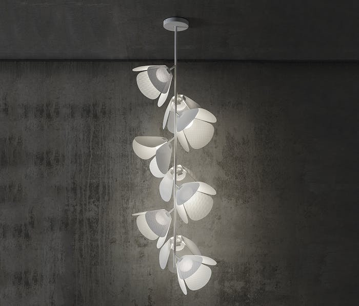 "Modular pendant light whose modules look like flowers.<span class=""sr-only""> (opened in a new window/tab)</span>"