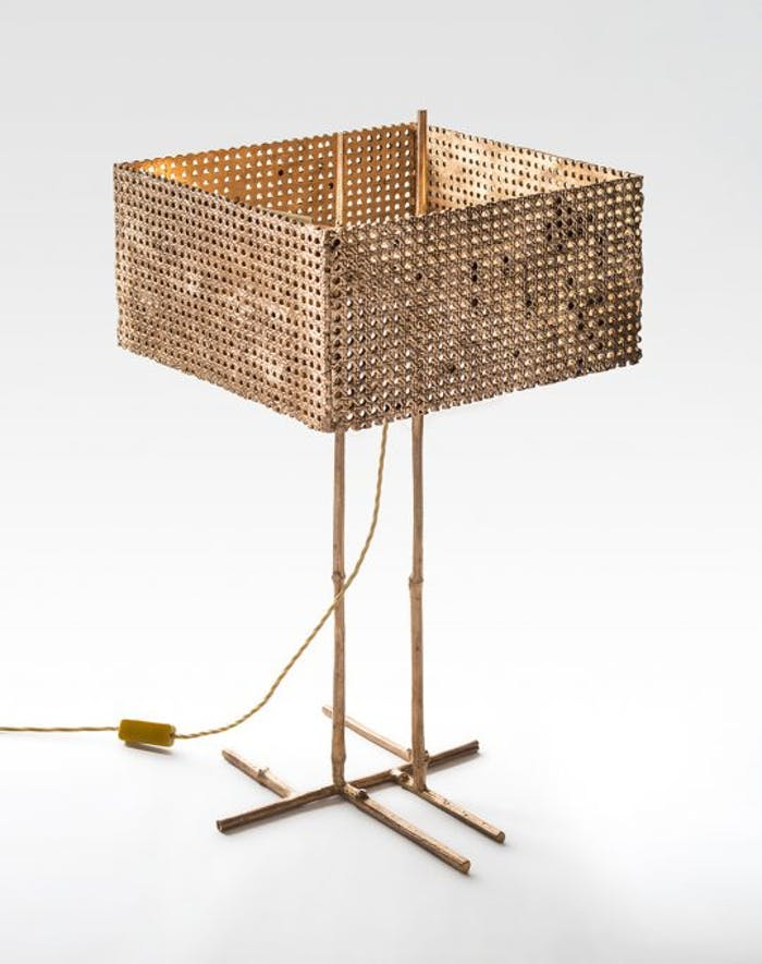 """Paglia di Vienna lamp, example of modern Vienna straw design by Osanna Madina Visconti di Modrone.<span class=""""sr-only""""> (opened in a new window/tab)</span>"""