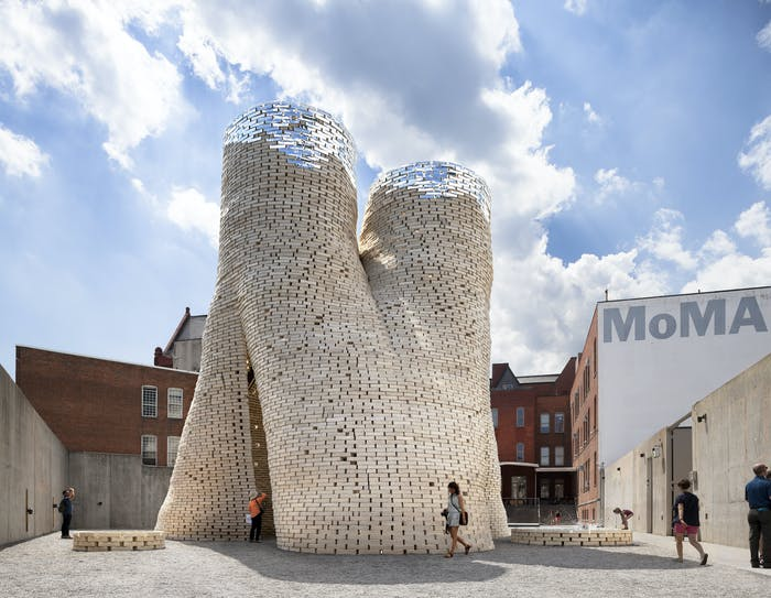 """Building made of mycelium bricks.<span class=""""sr-only""""> (opened in a new window/tab)</span>"""