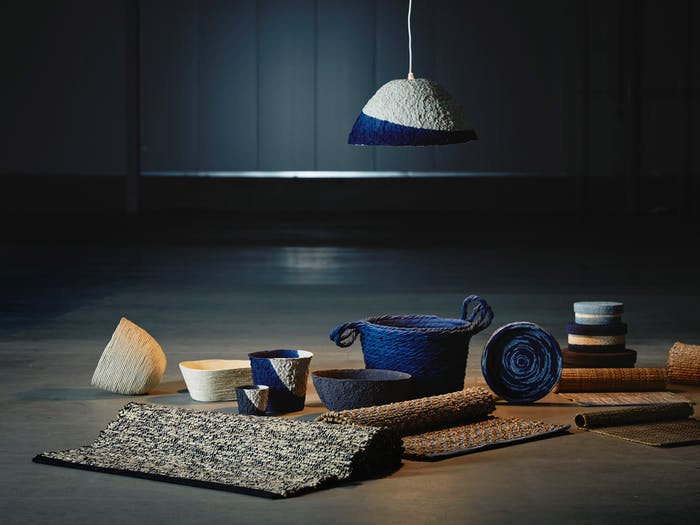 """Rugs, boxes, baskets and lampshades from IKEA's FÖRÄNDRING_collection.<span class=""""sr-only""""> (opened in a new window/tab)</span>"""