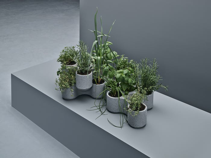 """The stackable planters designed by Tom Dixon for IKEA.<span class=""""sr-only""""> (opened in a new window/tab)</span>"""