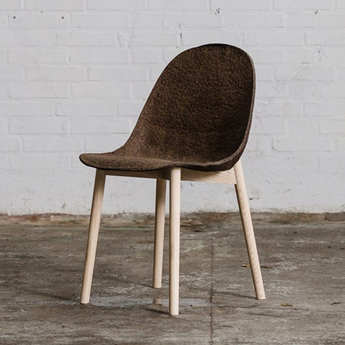 """Chair made of seaweeds & paper.<span class=""""sr-only""""> (opened in a new window/tab)</span>"""
