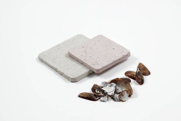 """Terrazzo tiles made with crushed seashells.<span class=""""sr-only""""> (opened in a new window/tab)</span>"""