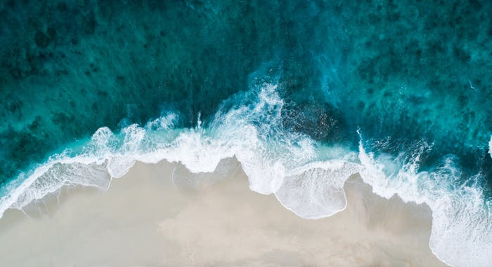 """Aerial view of the ocean.<span class=""""sr-only""""> (opened in a new window/tab)</span>"""