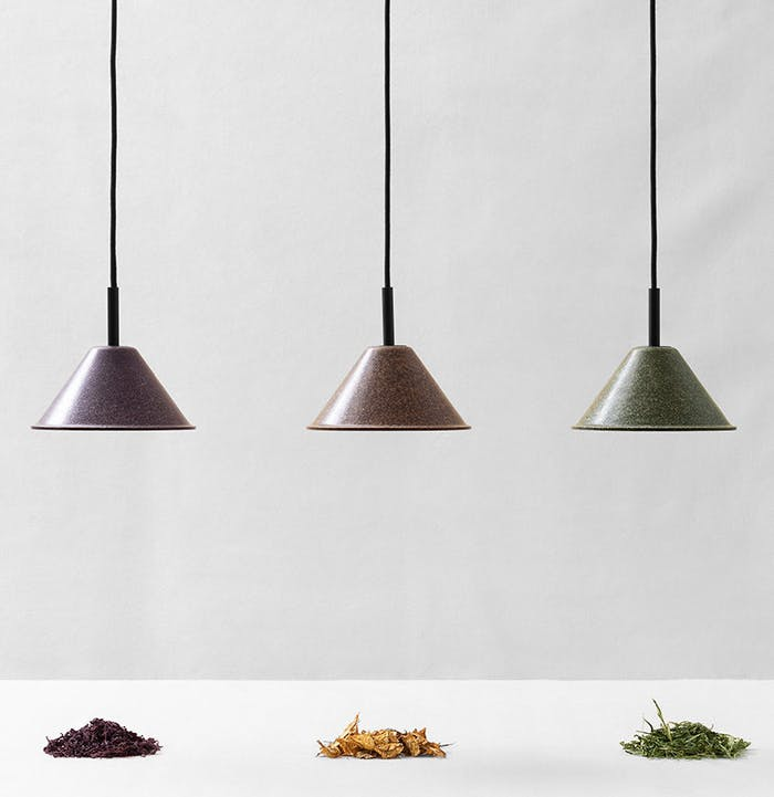 "Pendant lamps made of agricultural waste.<span class=""sr-only""> (opened in a new window/tab)</span>"