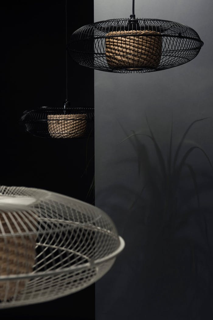 "Pendant lamps made with an old fan.<span class=""sr-only""> (opened in a new window/tab)</span>"