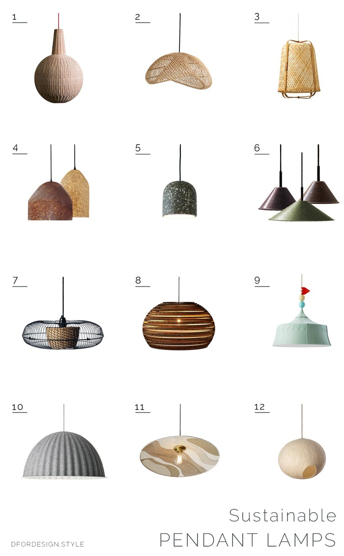 "Moodboard showing 12 sustainable lampshades.<span class=""sr-only""> (opened in a new window/tab)</span>"
