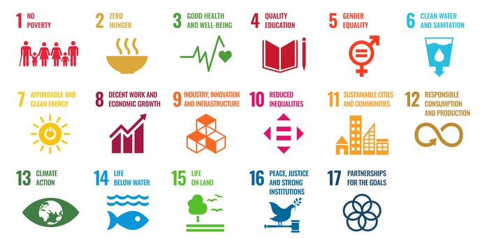 """Graphic of the 17 UN sustainable development goals.<span class=""""sr-only""""> (opened in a new window/tab)</span>"""