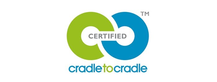 """Logo of the Cradle to Cradle Certified label.<span class=""""sr-only""""> (opened in a new window/tab)</span>"""