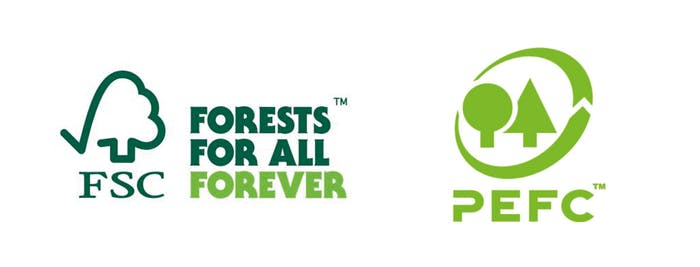 """Logo of the FSC and PEFC labels.<span class=""""sr-only""""> (opened in a new window/tab)</span>"""