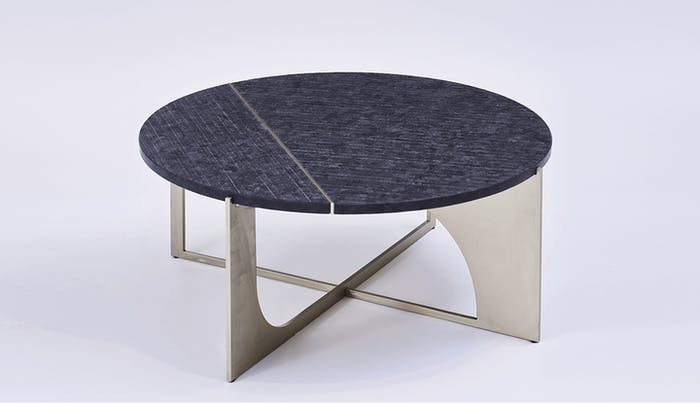 "Modern coffee table with metal legs and black top.<span class=""sr-only""> (opened in a new window/tab)</span>"