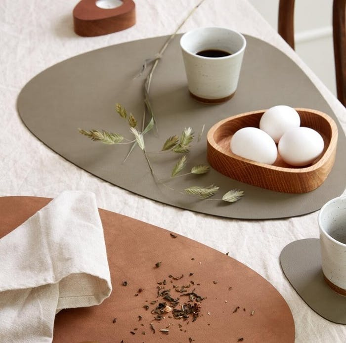 """Close-up of a breakfast table set in earthy tones.<span class=""""sr-only""""> (opened in a new window/tab)</span>"""