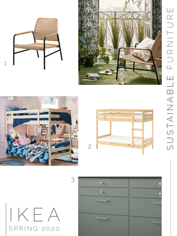 "Moodboard showing sustainable furniture launched in IKEA spring catalogue 2020.<span class=""sr-only""> (opened in a new window/tab)</span>"