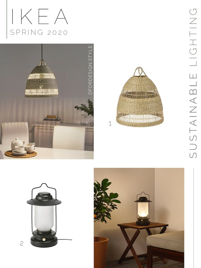 "Moodboard showing sustainable lighting launched in IKEA spring catalogue 2020.<span class=""sr-only""> (opened in a new window/tab)</span>"