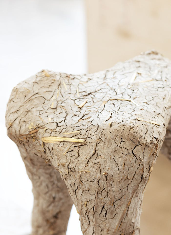 """Stool and vase made out of ocean sediment.<span class=""""sr-only""""> (opened in a new window/tab)</span>"""