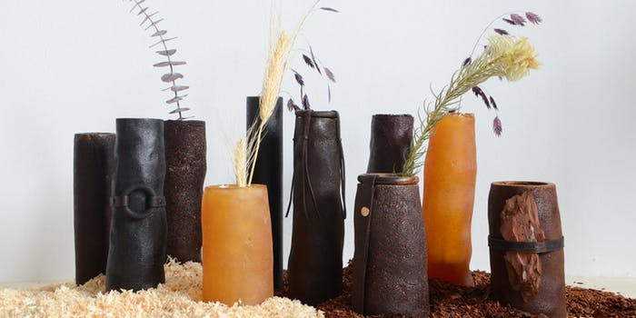 "PineResin vases with dried flowers in them.<span class=""sr-only""> (opened in a new window/tab)</span>"