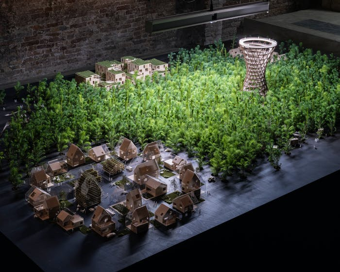 """Architectural model with buildings and real trees.<span class=""""sr-only""""> (opened in a new window/tab)</span>"""