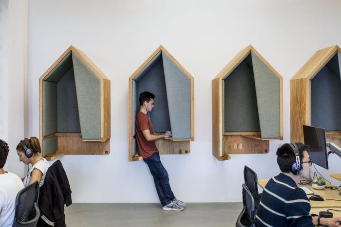 """Standing pods for individual focus work.<span class=""""sr-only""""> (opened in a new window/tab)</span>"""