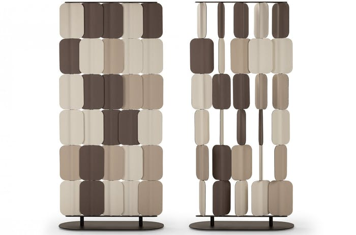 """Felt room divider with individually rotating modules that allow customizing the room divider.<span class=""""sr-only""""> (opened in a new window/tab)</span>"""